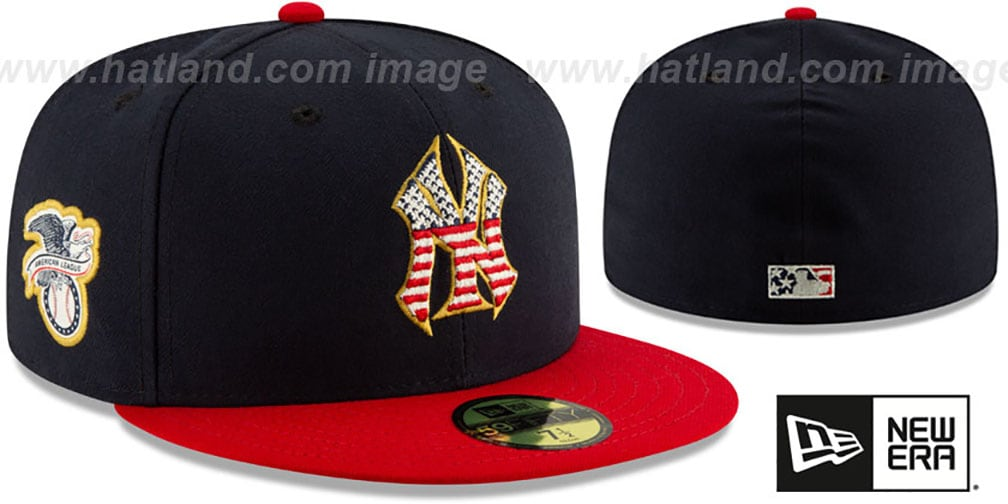 Yankees '2019 JULY 4TH STARS N STRIPES' Fitted Hat by New Era