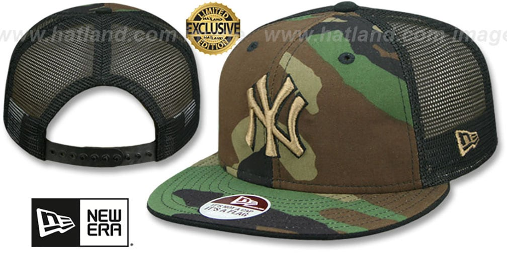 Yankees 'ARMY CAMO SNAPBACK' Adjustable Hat by New Era