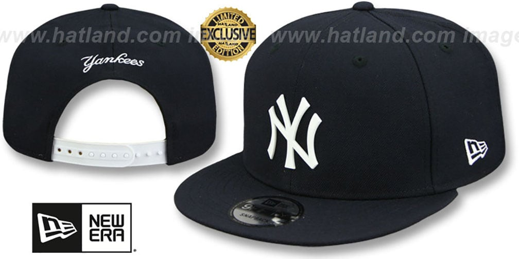 Yankees 'WHITE METAL-BADGE' SNAPBACK Navy Hat by New Era