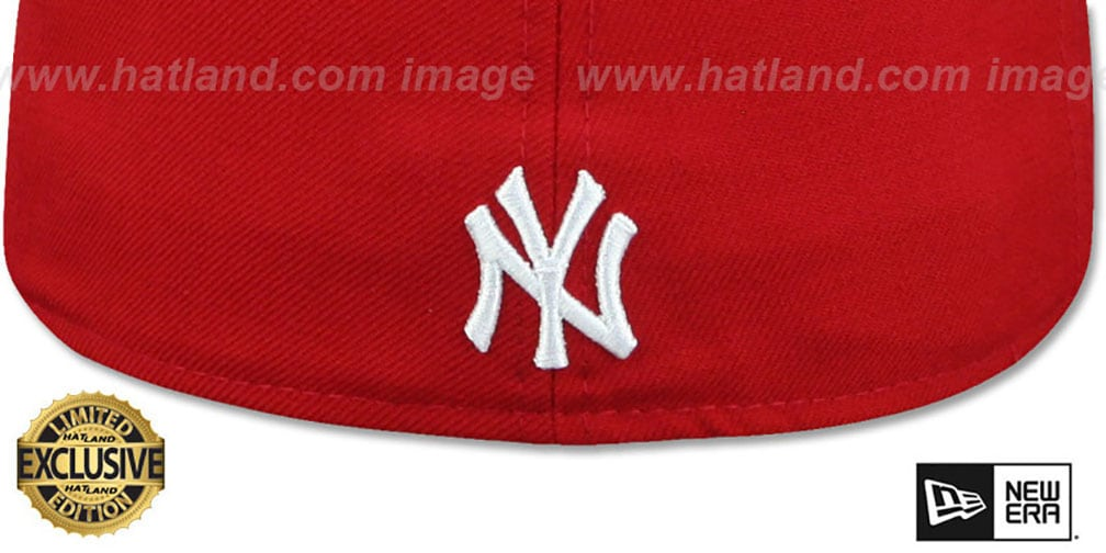 Yankees 'BRONX BOMBERS' Red Fitted Hat by New Era