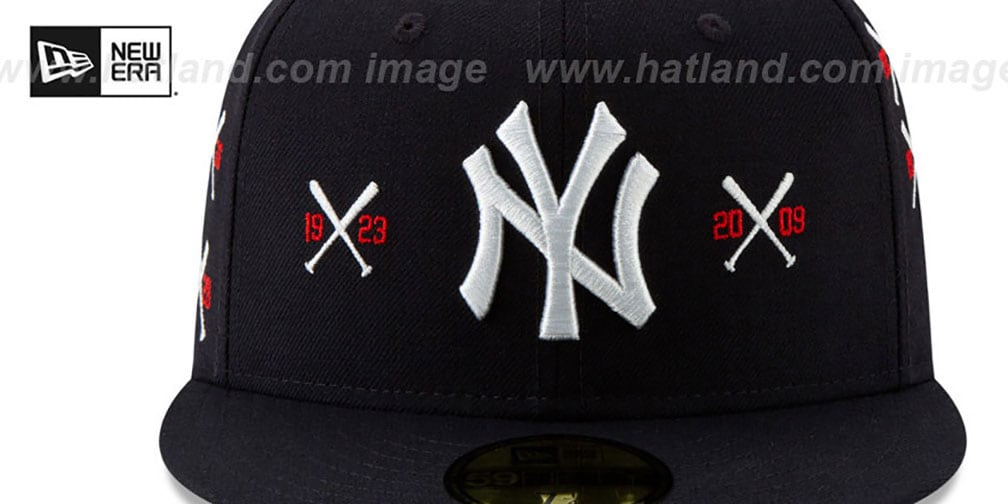 Yankees 'SPIKE LEE' CROSSED-BATS Navy Fitted Hat by New Era