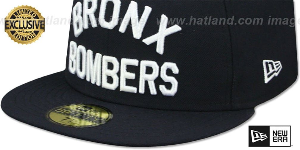 Yankees 'BRONX BOMBERS' Navy Fitted Hat by New Era