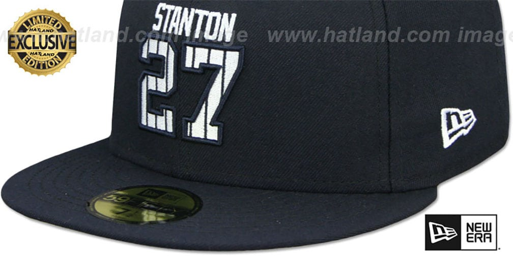 Yankees 'STANTON PINSTRIPE' Navy Fitted Hat by New Era