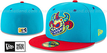 Rail Riders 'COPA' Blue-Red Fitted Hat by New Era