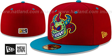 Rail Riders 'COPA' Red-Blue Fitted Hat by New Era