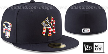 Yankees '2018 JULY 4TH STARS N STRIPES' Navy Fitted Hat by New Era
