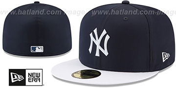 Yankees '2018 PROLIGHT-BP' Navy-White Fitted Hat by New Era