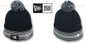 Yankees 'AC-ONFIELD' Navy Knit Beanie Hat by New Era