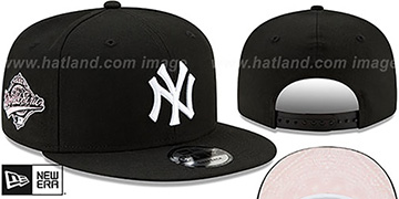 Yankees 'BANDANA PINK BOTTOM SNAPBACK' Black Hat by New Era