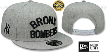 Yankees 'BRONX BOMBERS SNAPBACK' Heather Light Grey Hat by New Era