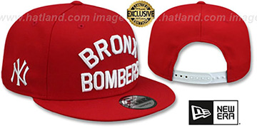 Yankees 'BRONX BOMBERS SNAPBACK' Red Hat by New Era