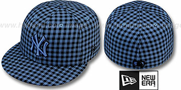 Yankees 'BUFFALO GINGHAM' Sky-Black Fitted Hat by New Era