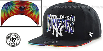 Yankees 'CANNED-HEAT SNAPBACK' Black Hat by Twins 47 Brand