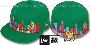 Yankees 'CITY DEEP-SKYLINE' Green-Multi Fitted Hat by New Era