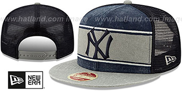 Yankees 'COOP HERITAGE-BAND TRUCKER SNAPBACK' Navy-Grey Hat by New Era