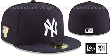 Yankees 'GILDED TURN' Navy Fitted Hat by New Era