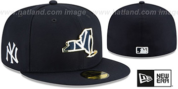 Yankees 'GOLD STATED INSIDER' Navy Fitted Hat by New Era
