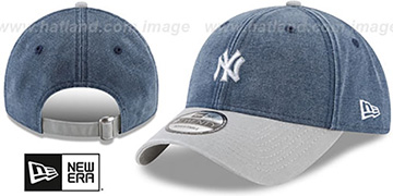 Yankees 'GW RUGGED CANVAS STRAPBACK' Navy-Grey Hat by New Era