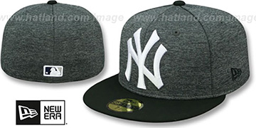 Yankees 'HEATHER-HUGE' Grey-Black Fitted Hat by New Era