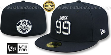 Yankees 'JUDGE PINSTRIPE ALL RISE BACK' Navy Fitted Hat by New Era