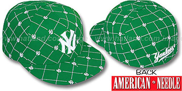 Yankees 'KINGSTON ALL-OVER' Kelly-White Fitted Hat by American Needle