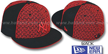 Yankees 'LOS-LOGOS' Black-Red Fitted Hat by New Era