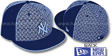 Yankees 'LOS-LOGOS' Navy-Columbia Fitted Hat by New Era