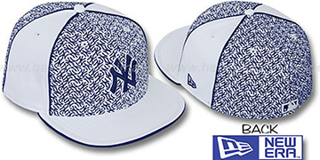 Yankees 'LOS-LOGOS' White-Navy Fitted Hat by New Era