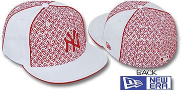 Yankees 'LOS-LOGOS' White-Red Fitted Hat by New Era