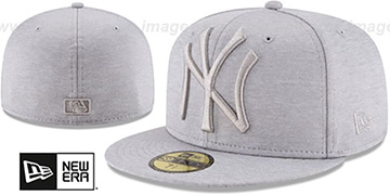 Yankees 'MEGATONE' Grey Shadow Tech Fitted Hat by New Era