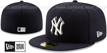 Yankees 'METAL-N-THREAD' Navy Fitted Hat by New Era