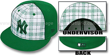 Yankees 'MIMIC PLAID' White-Green Fitted Hat by New Era