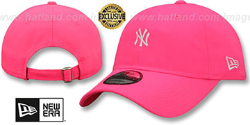 Yankees 'MINI BEACHIN STRAPBACK' Neon Pink Hat by New Era