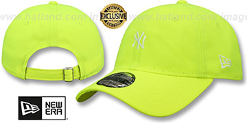 Yankees 'MINI BEACHIN STRAPBACK' Neon Yellow Hat by New Era