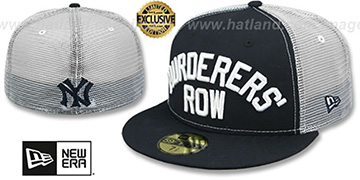 Yankees 'MURDERERS ROW MESH-BACK' Navy-White Fitted Hat by New Era