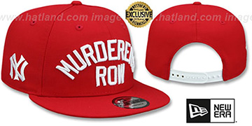 Yankees 'MURDERERS ROW SNAPBACK' Red Hat by New Era