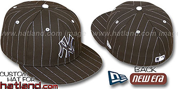 Yankees 'PINSTRIPE' Brown-White Fitted Hat by New Era