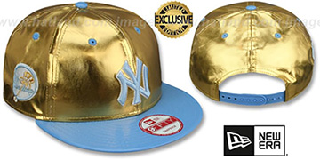 Yankees 'POSH SNAPBACK' Gold-Sky Hat by New Era