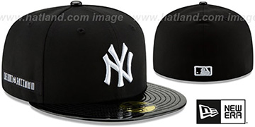 Yankees 'RETRO-HOOK' Black-White Fitted Hat by New Era