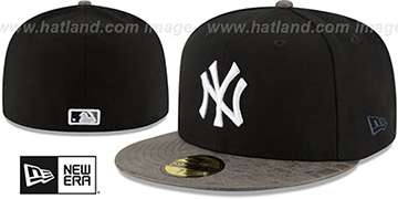 Yankees 'RUSTIC-VIZE' Black-Grey Fitted Hat by New Era