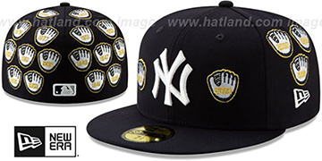 Yankees 'SPIKE LEE' GOLD-GLOVES Navy Fitted Hat by New Era