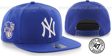 Yankees 'SURE-SHOT SNAPBACK' Royal Hat by Twins 47 Brand