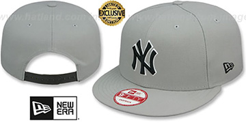 Yankees 'TEAM-BASIC SNAPBACK' Grey-Black Hat by New Era