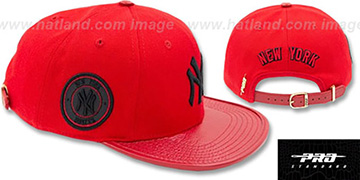 Yankees 'TEAM-BASIC STRAPBACK' Red-Black Hat by Pro Standard