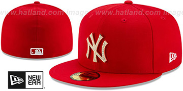 Yankees 'TEAM-GEM' Red Fitted Hat by New Era