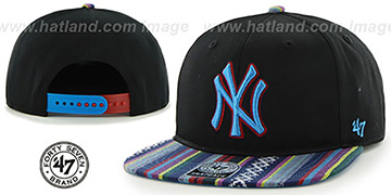 Yankees 'THE-DUDE SNAPBACK' Black-Blue Hat by Twins 47 Brand