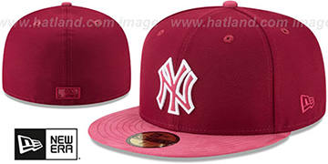 Yankees 'TONAL-CHOICE' Burgundy Fitted Hat by New Era