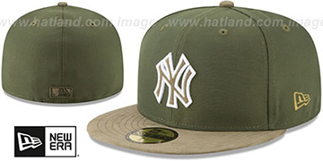 Yankees 'TONAL-CHOICE' Rifle Green Fitted Hat by New Era