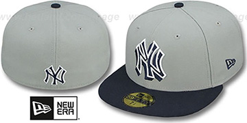 Yankees 'TRACE-POP' Grey-Navy Fitted Hat by New Era