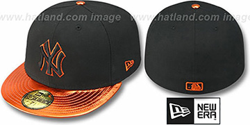 Yankees 'VIZATION' Black-Orange Fitted Hat by New Era